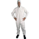 Polypropylene Coveralls White Large