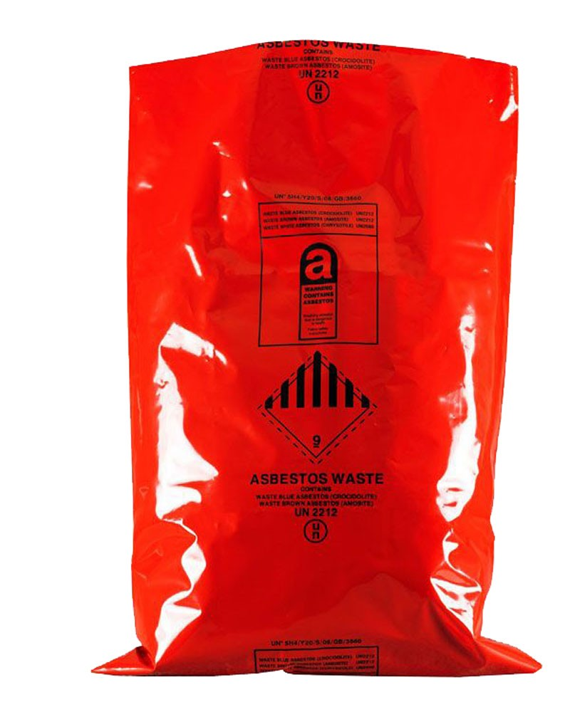 "Asbestos Removal Sack / Bag 900MM X 1200MM (36"" x 48"") Red (Pack of 50)"