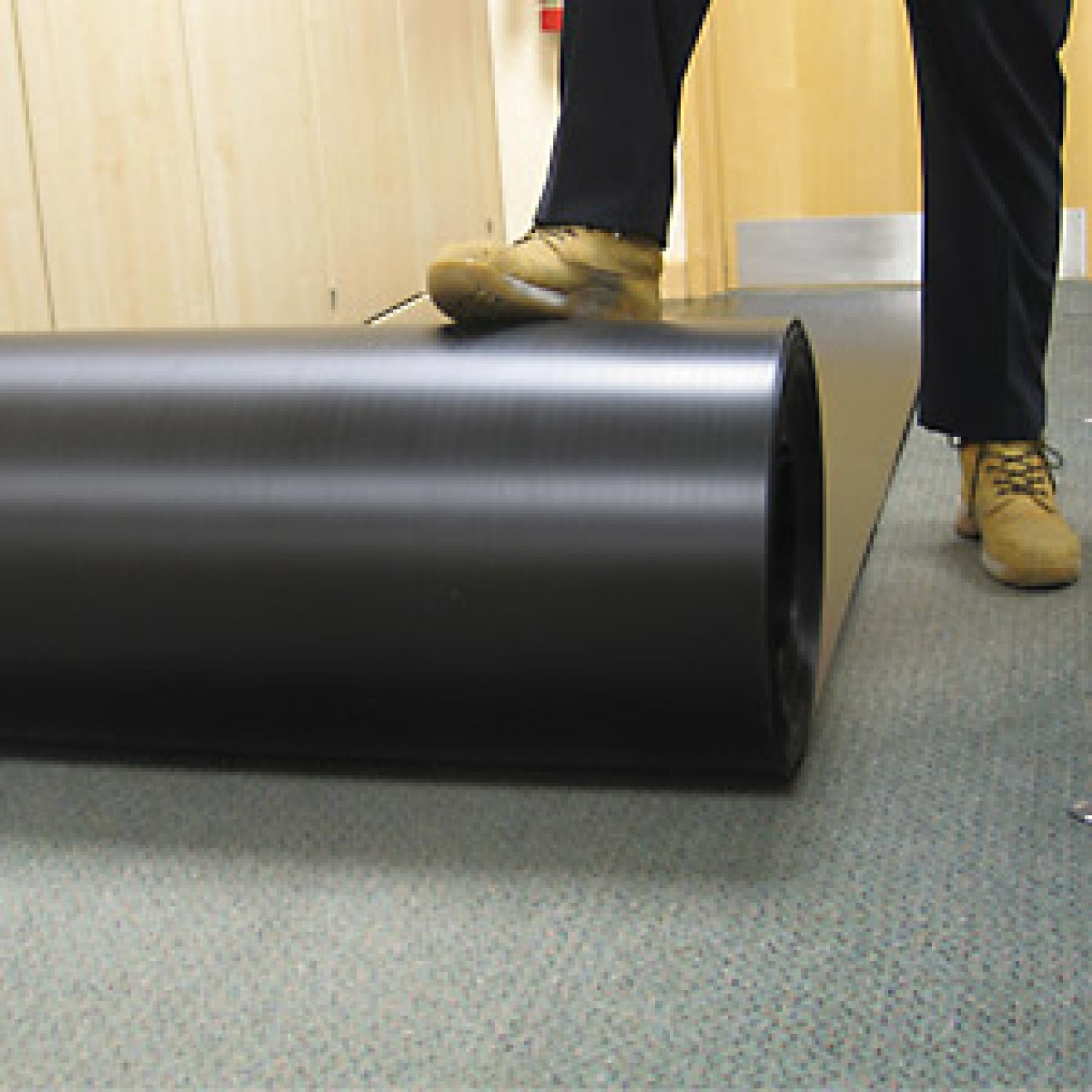 Correx (corex) Corrugated Plastic Roll Floor Protection 1M x 50M x 2mm Black