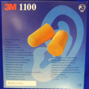 3M 1100 Disposable Foam Ear Plugs - Box of 200