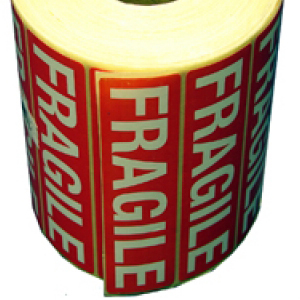 "Self Adhesive Label ""FRAGILE"""