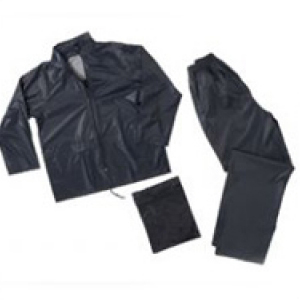PVC 2 PIECE RAIN SUIT NAVY MEDIUM