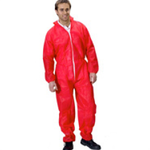 Polypropylene Coveralls Red Large