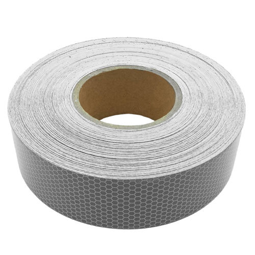 Heavy Duty Adhesive Reflective Silver Vinyl Bikers Tape 50mm x 10 metres