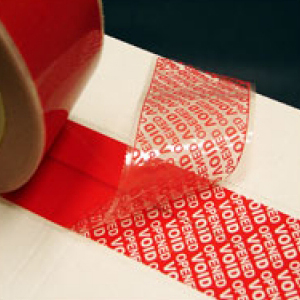 TAMPERSAFE™ Tamper Proof / Evident Security Parcel Tape Red 25mm x 50m PLAIN