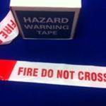 Fire Do Not Cross Barrier Tape Red & White 75mm x 250m