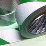 PVC Hazard Warning Floor Marking Tape Adhesive Green & White 25mm x 33m