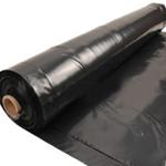 Polythene Sheeting Roll Black 4M x 25M 500g