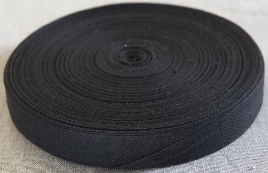 Cotton Tie Tape 25mm x 50m BLACK