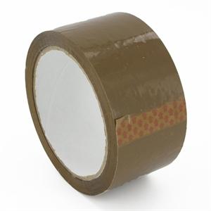 BUDGET Polypropylene Parcel Tape Brown 48mm x 66m