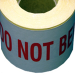 "Self Adhesive Label ""DO NOT BEND"""