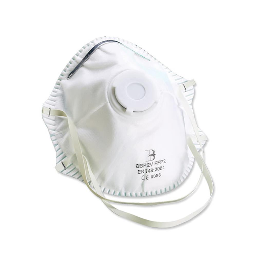 Coronavirus Filters 95% of Particles N95 FFP2 Valved Respirator (5 Masks)