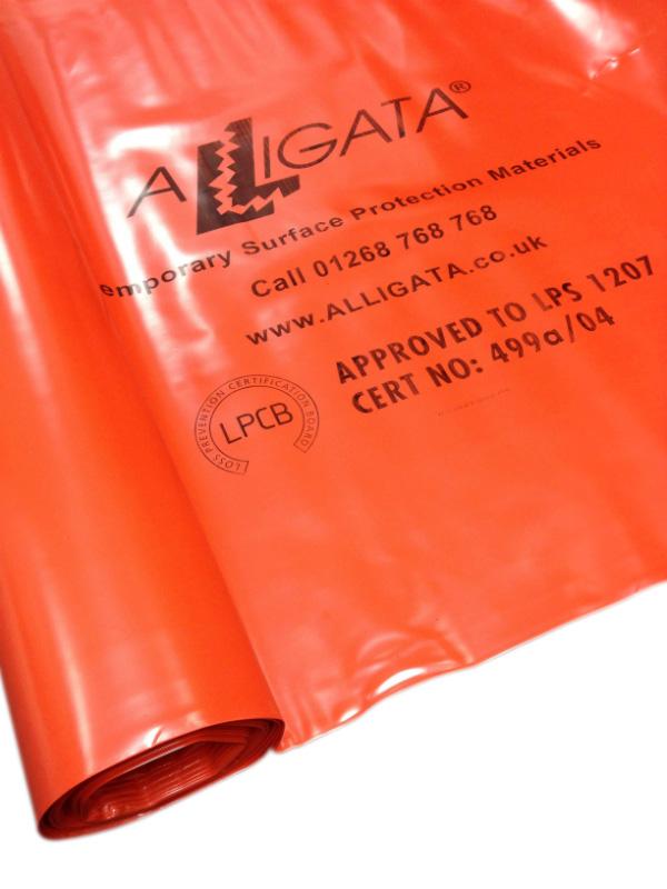 Fire / Flame Retardant Polythene Sheeting Poly Visqueen Tuffreel FR 4m x 25m 1000g LPS 1207