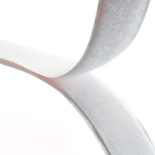 Rip 'n' Grip Tape LOOP White High Tack Rubber Adhesive 25mm x 25m
