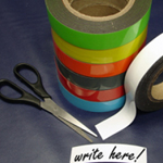 Magnetic Label Tape Green 10mm x 10m