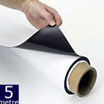 Magnetic Sheet Gloss White 620mm x 0.75mm x 5m