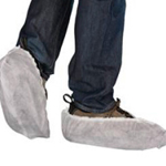 Heavy Duty Disposable Polypropylene Overshoes White (200 Pairs)