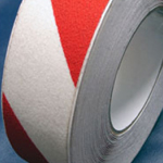 Antislip Tape Self Adhesive Safety Hazard Warning Red & White 100mm x 18m