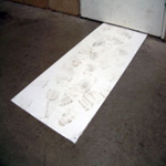Sticky / Tak / Tack / Tacky Entrance Adhesive Floor Mats 1150mm x 450mm White