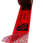 TAMPERSAFE™ Tamper Proof / Evident Security Parcel Tape Red 50mm x 50m PRINTED