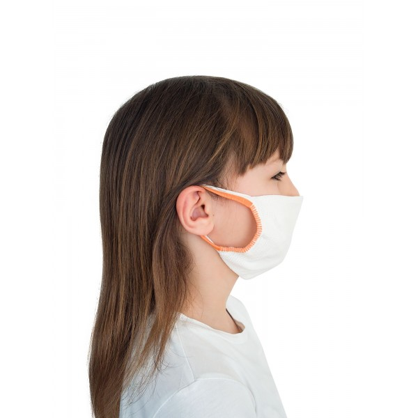 FMI Washable Reusable Face Mask Covering Childrens / Kids WHITE Antibacterial